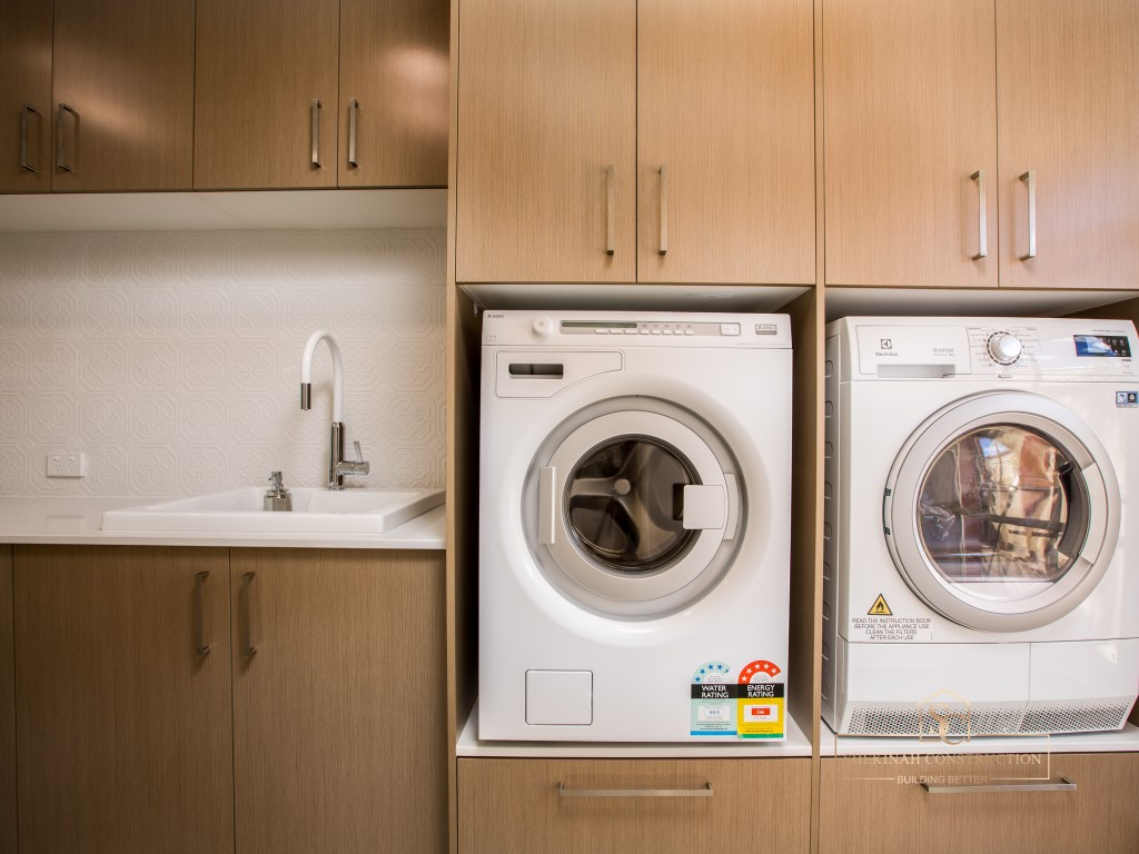 Raised Washer and Dryer